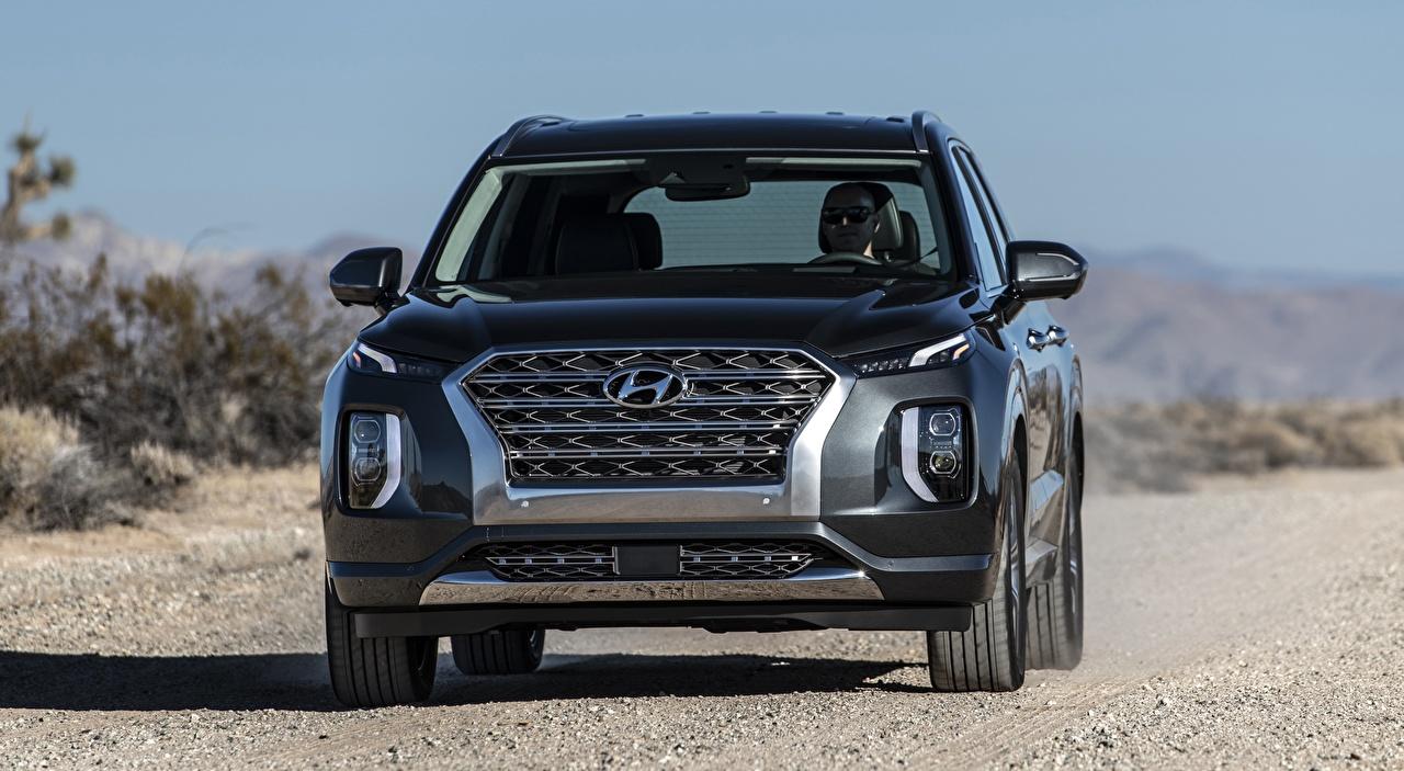 Images Hyundai SUV Palisade US-spec, 2019 auto Front Metallic Sport utility vehicle Cars automobile