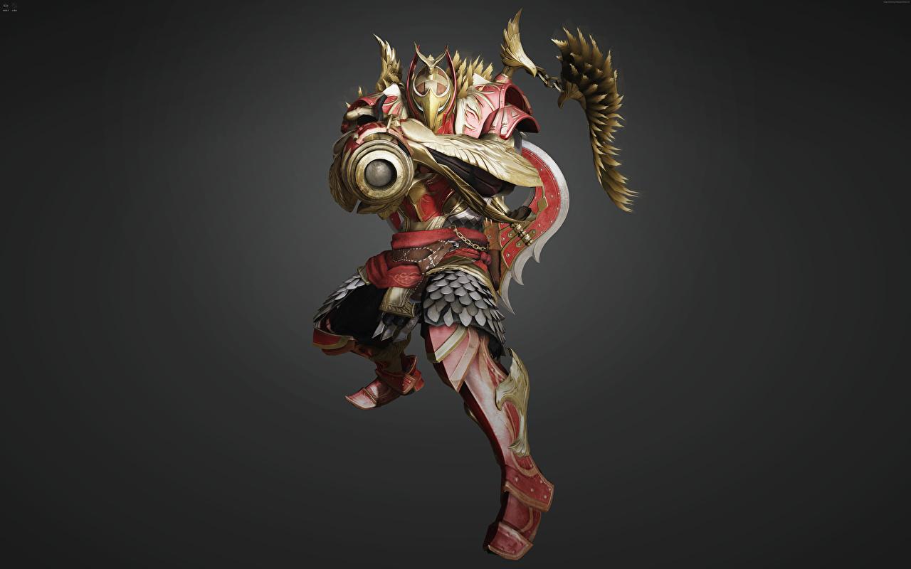 Fotos Schwarze Wüste Online Rüstung Helm Krieger Varvar (Tantu) Fantasy Spiele Maske computerspiel Masken