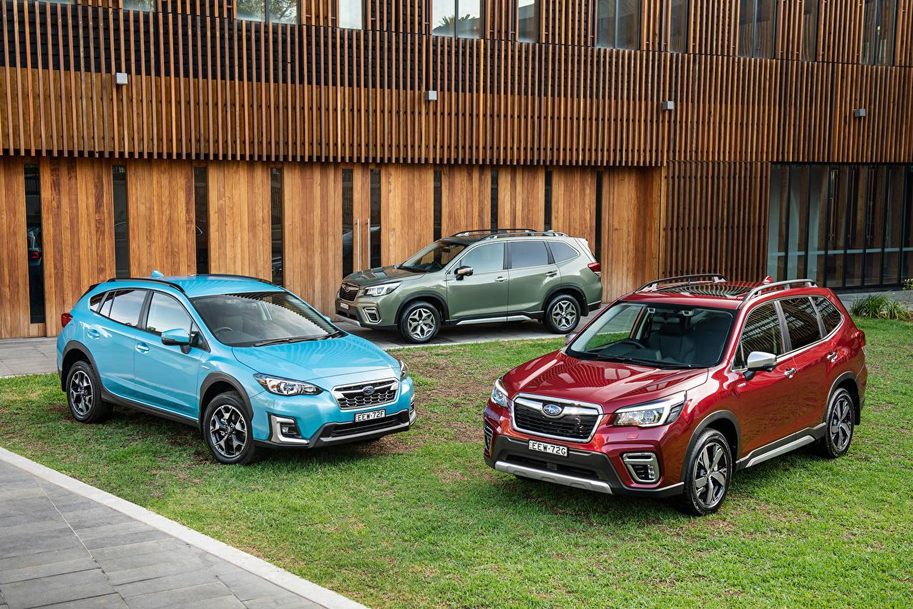Bilder von Subaru Softroader 2018-20 Forester Autos Drei 3 Metallisch Crossover auto automobil