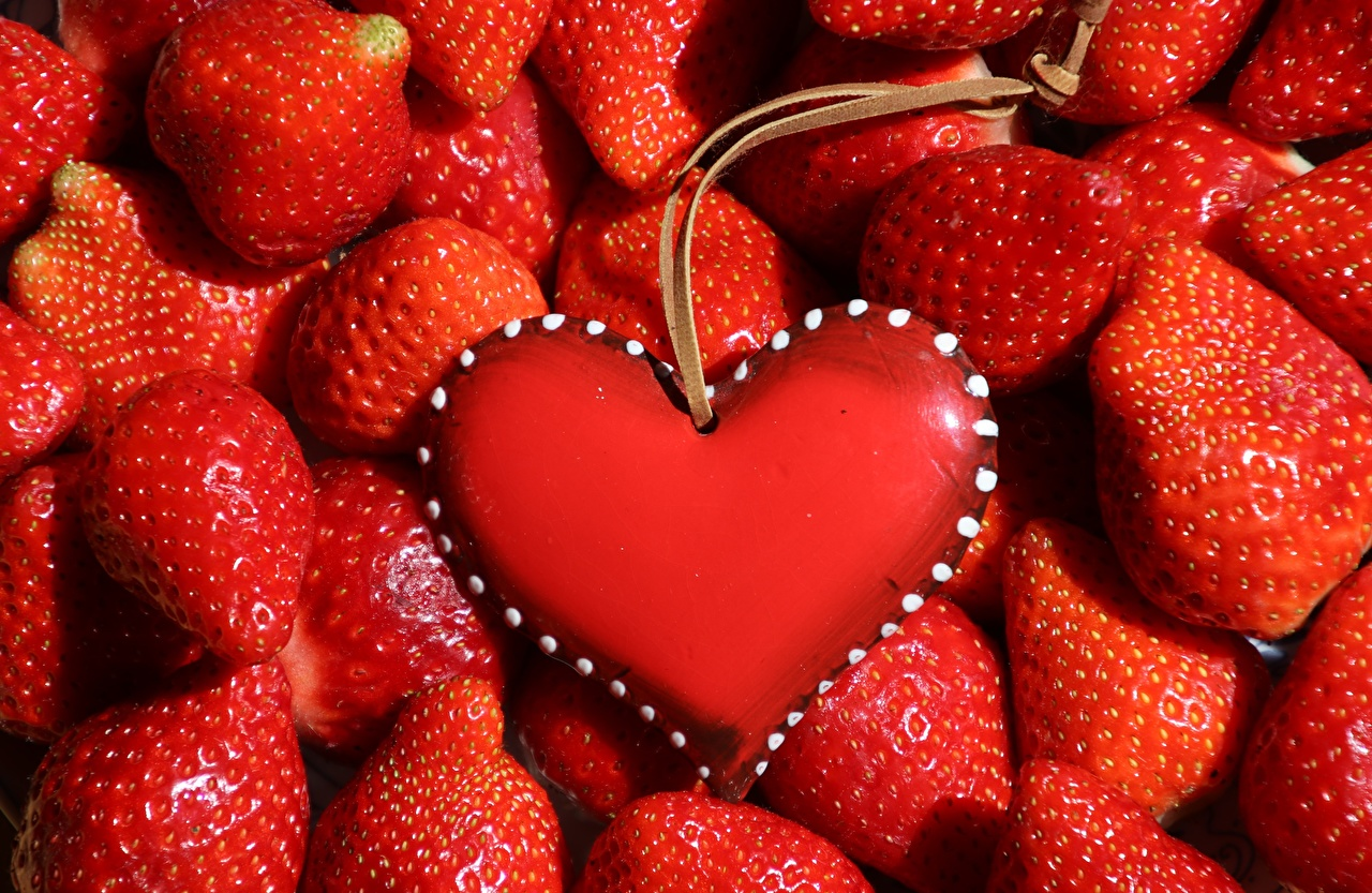 Picture Heart Red Strawberry Food Berry Template greeting card Many
