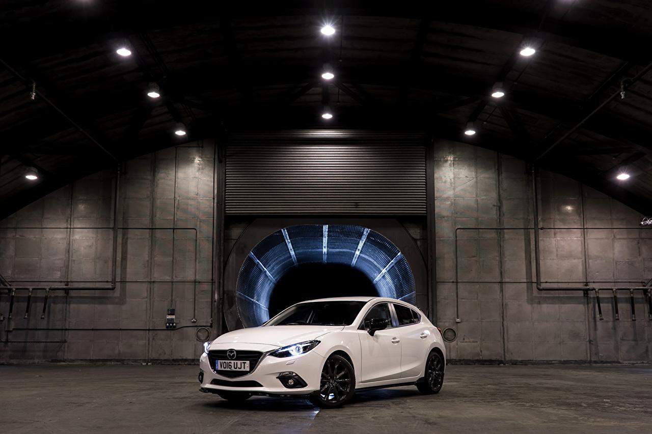 Pictures Mazda 2016 3 Sport Black (BM) White Metallic automobile Cars auto