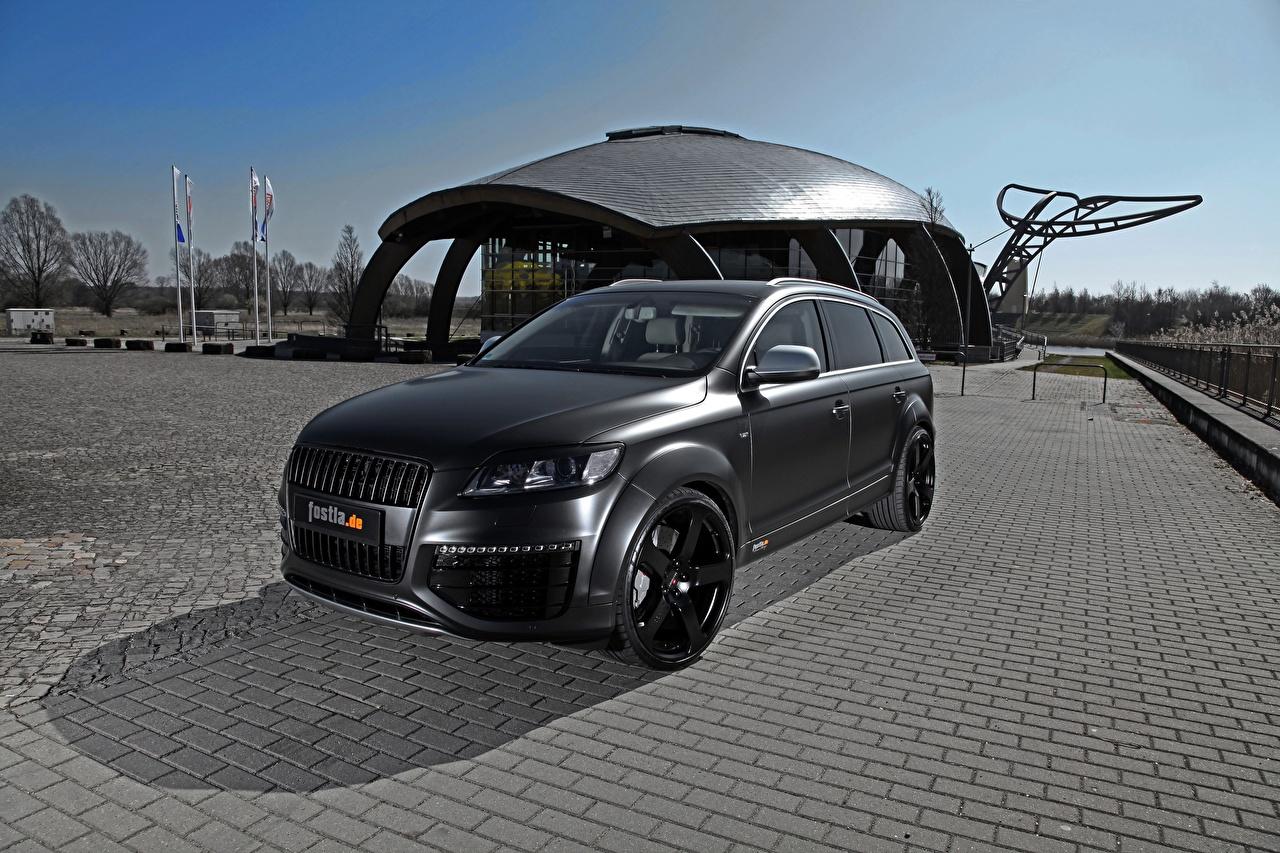 Desktop Wallpapers Audi Tuning Crossover Q7, Fostla, Quattro, TDI, 2012 Black Cars CUV auto automobile