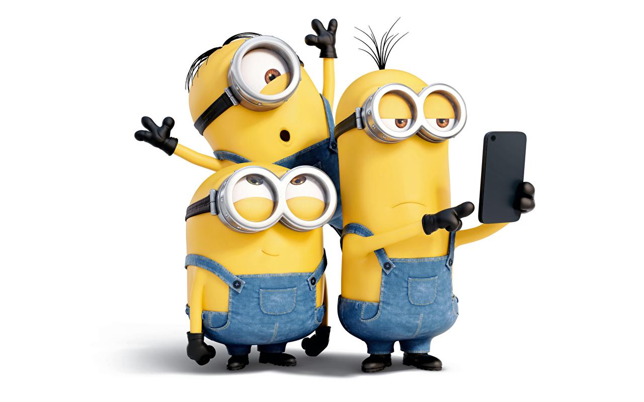Tapety Minions Telefon Kreskówki trzy Okulary telefonem kreskówka trzech Troje 3