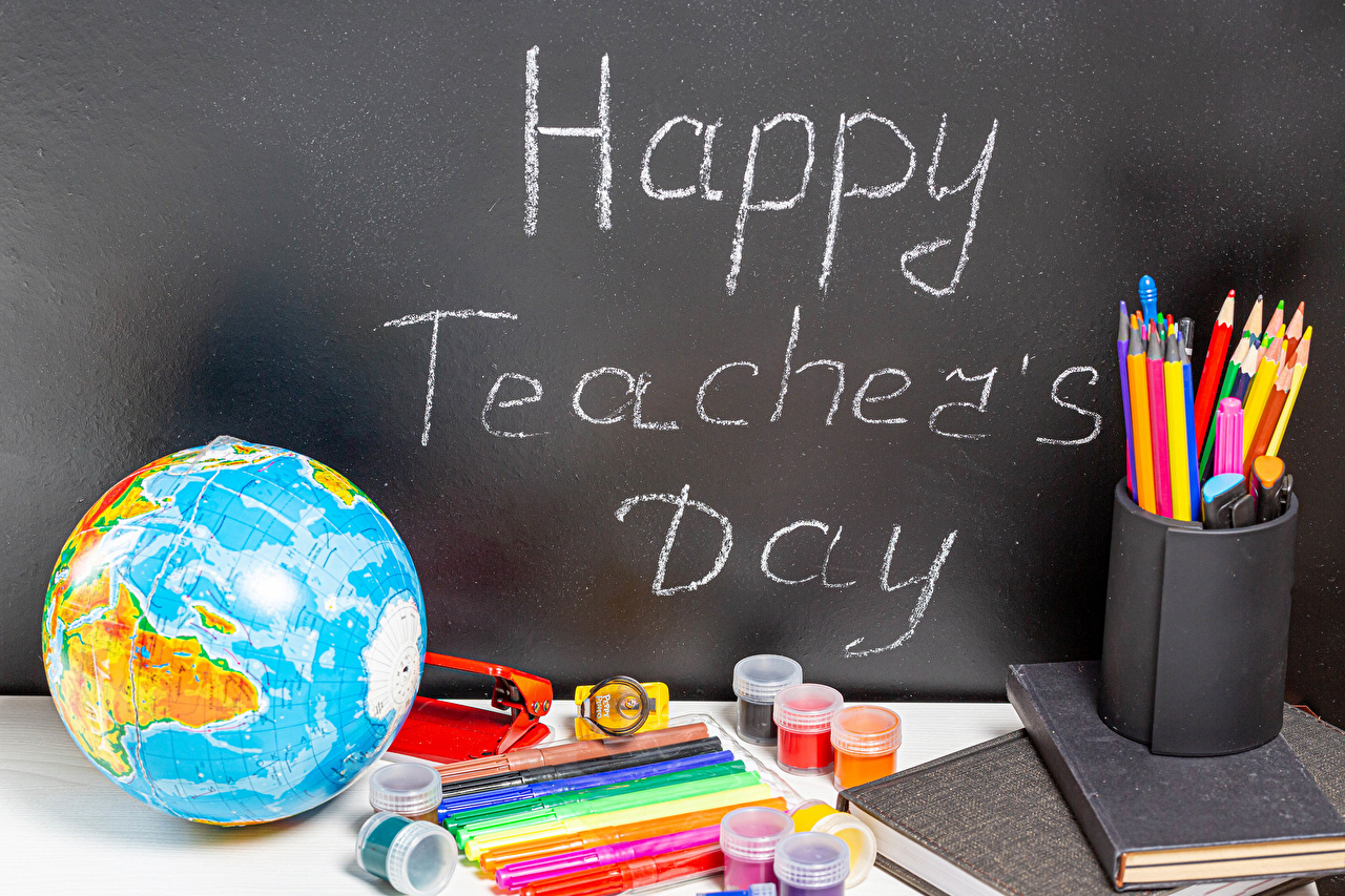 Pictures Stationery School English Pencils Globe Happy Teacher's Day Holidays pencil