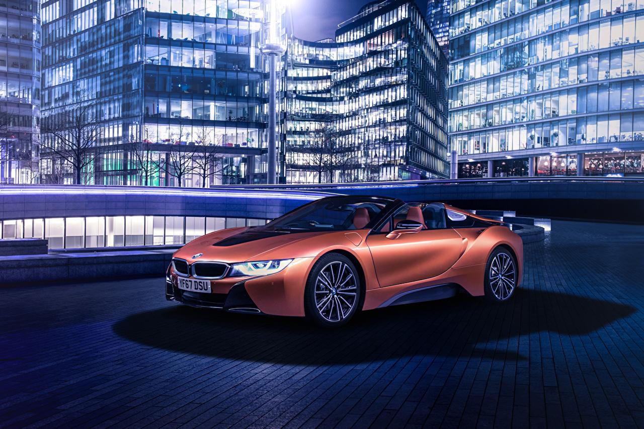 壁紙、BMW、2018 i8 Roadster、ロードスター、オレンジ色、自動車、ダウンロード、写真