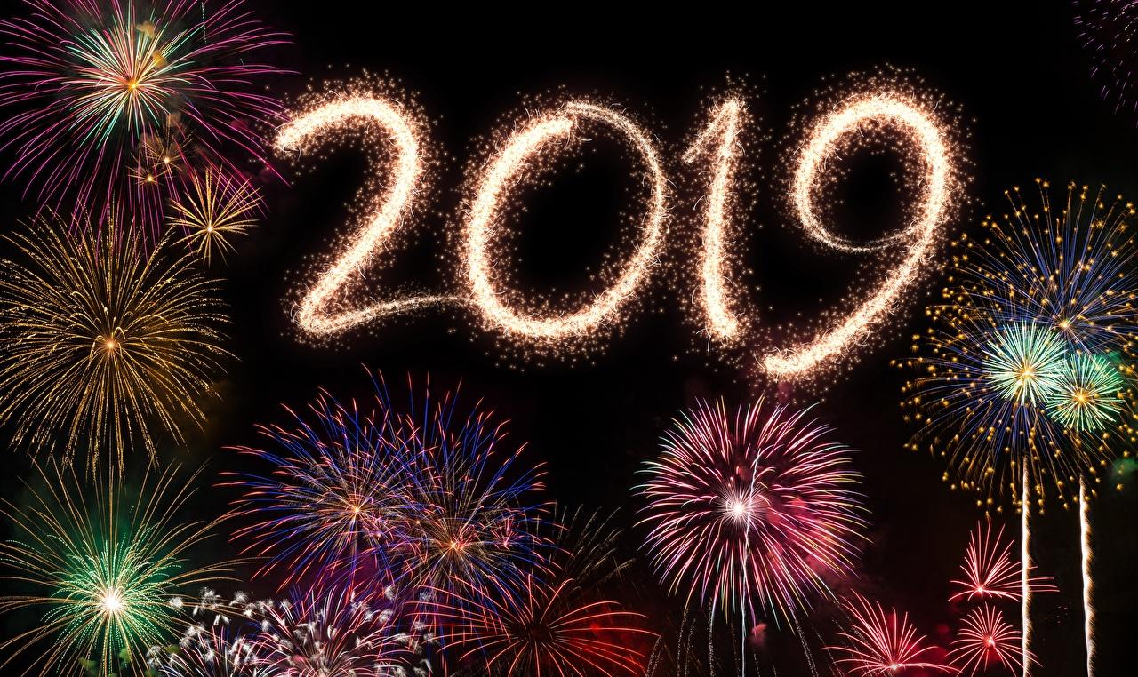 Desktop Wallpapers 2019 New year Fireworks Christmas