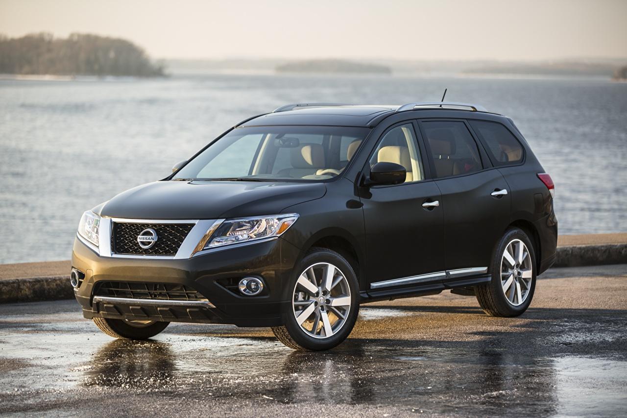 Picture Nissan CUV Pathfinder, 2015 Black Cars Metallic Crossover auto automobile