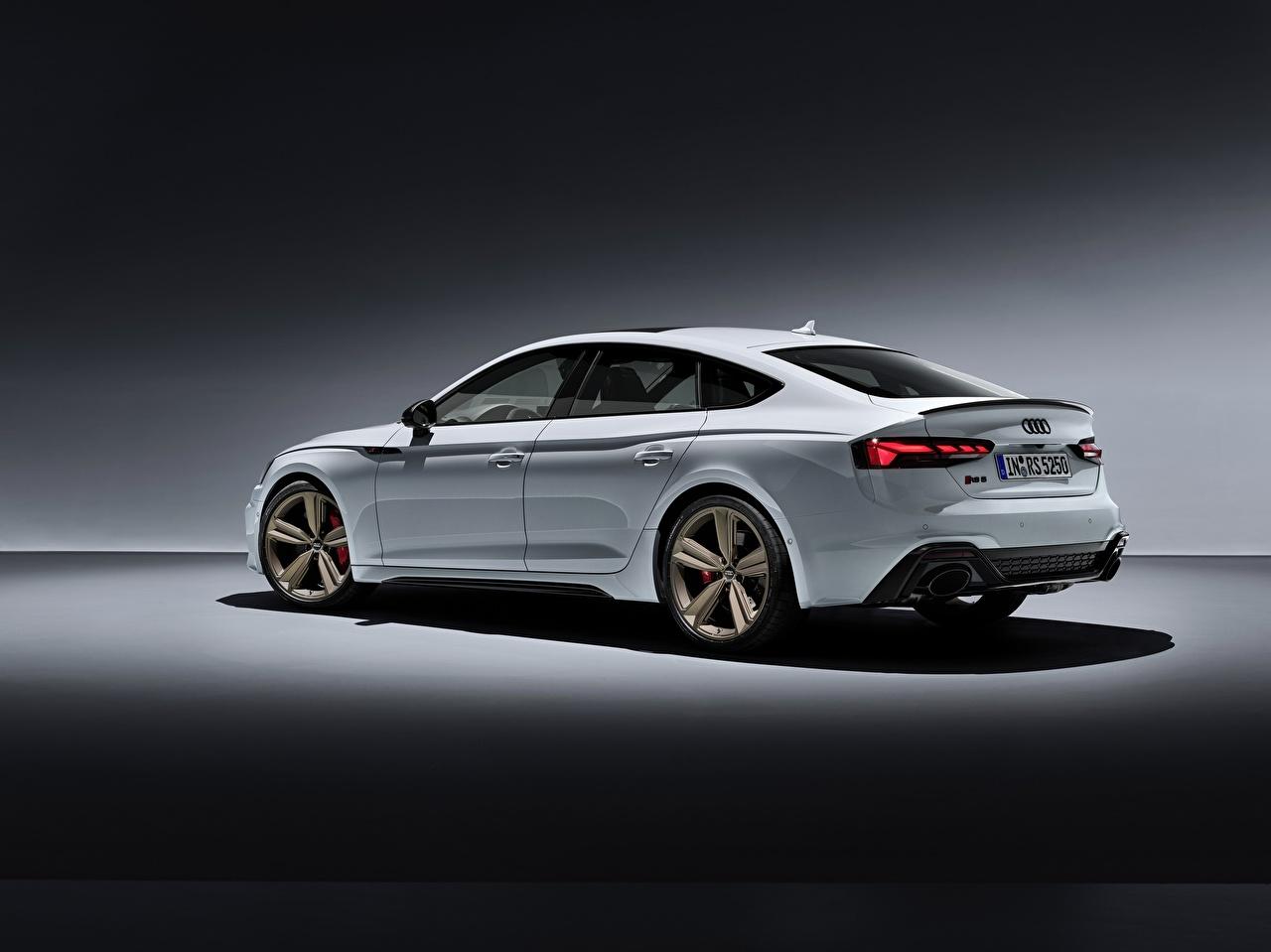 壁紙 アウディ Rs5 Sportback Rs 5 2020 白 メタリック塗 側面