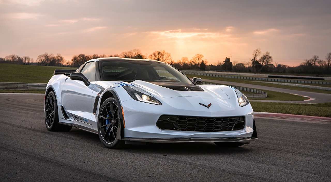 Wallpaper Chevrolet Corvette Z06, Carbon, 65 Edition, 2017 White automobile Cars auto