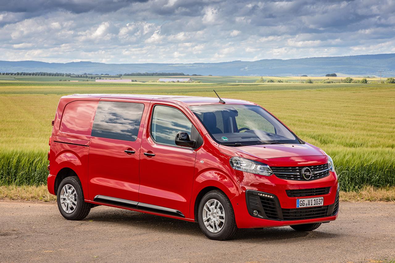 Wallpaper Opel 2019-20 Vivaro CrewVan Minivan Red Cars Metallic auto automobile