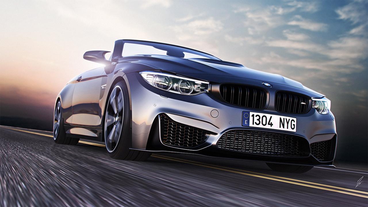 Picture BMW Roads Headlights automobile Cars auto