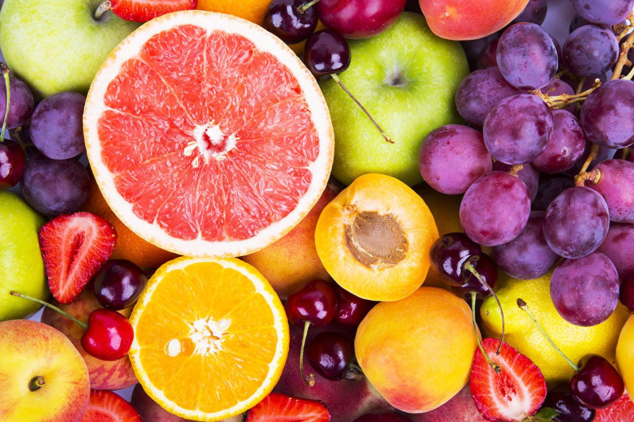 壁紙 果物 ブドウ オレンジ 桃 食品 ダウンロード 写真