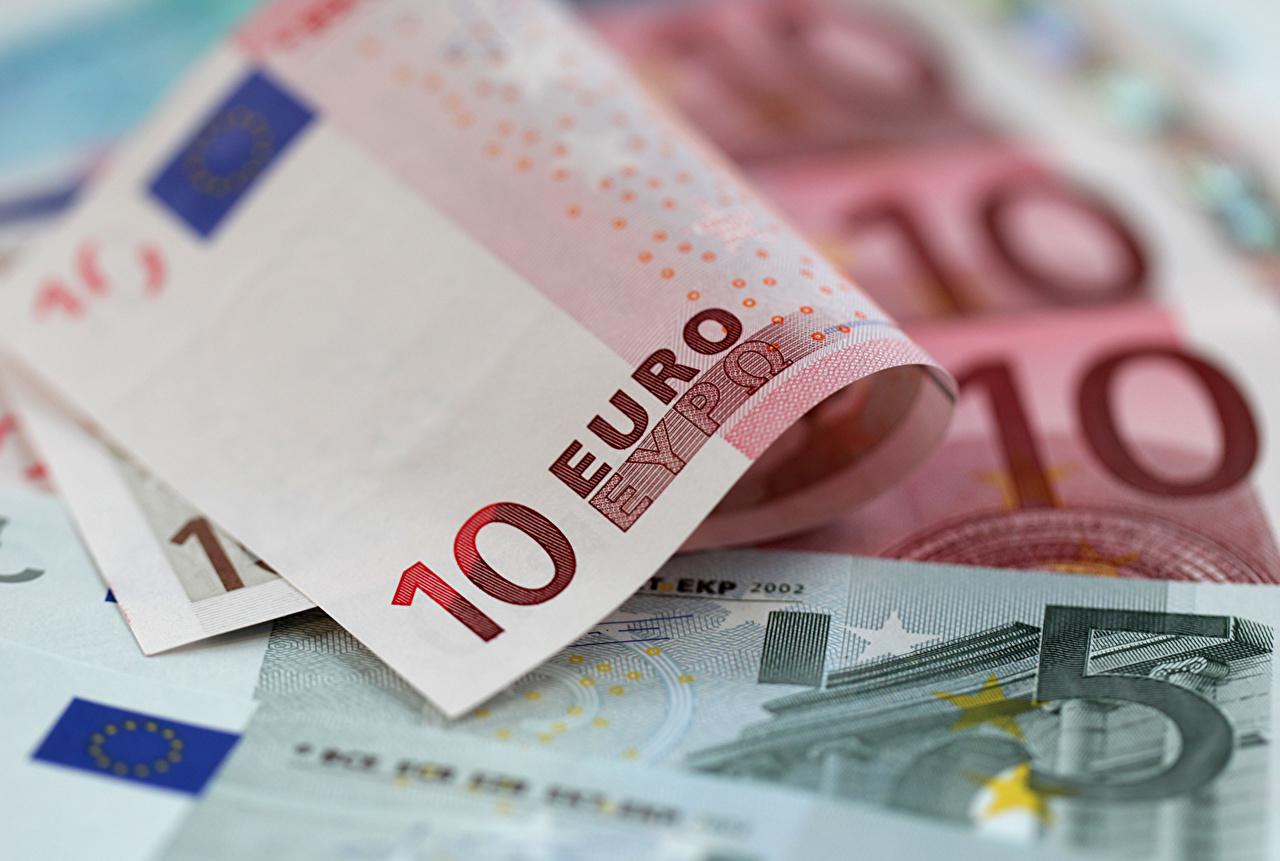 Images Euro Paper money 10 Money Closeup Banknotes