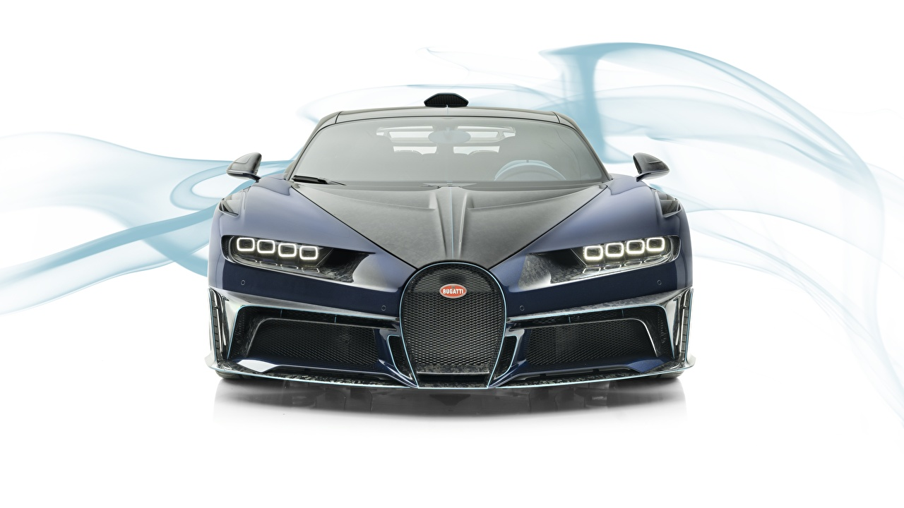 Wallpaper BUGATTI Mansory Chiron 2019 Centuria Cars Front White background auto automobile
