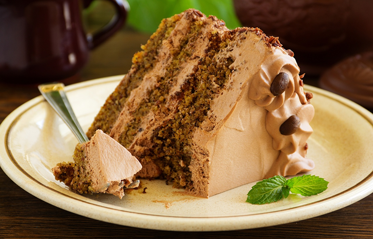 Picture Cakes pieces Food Torte Piece