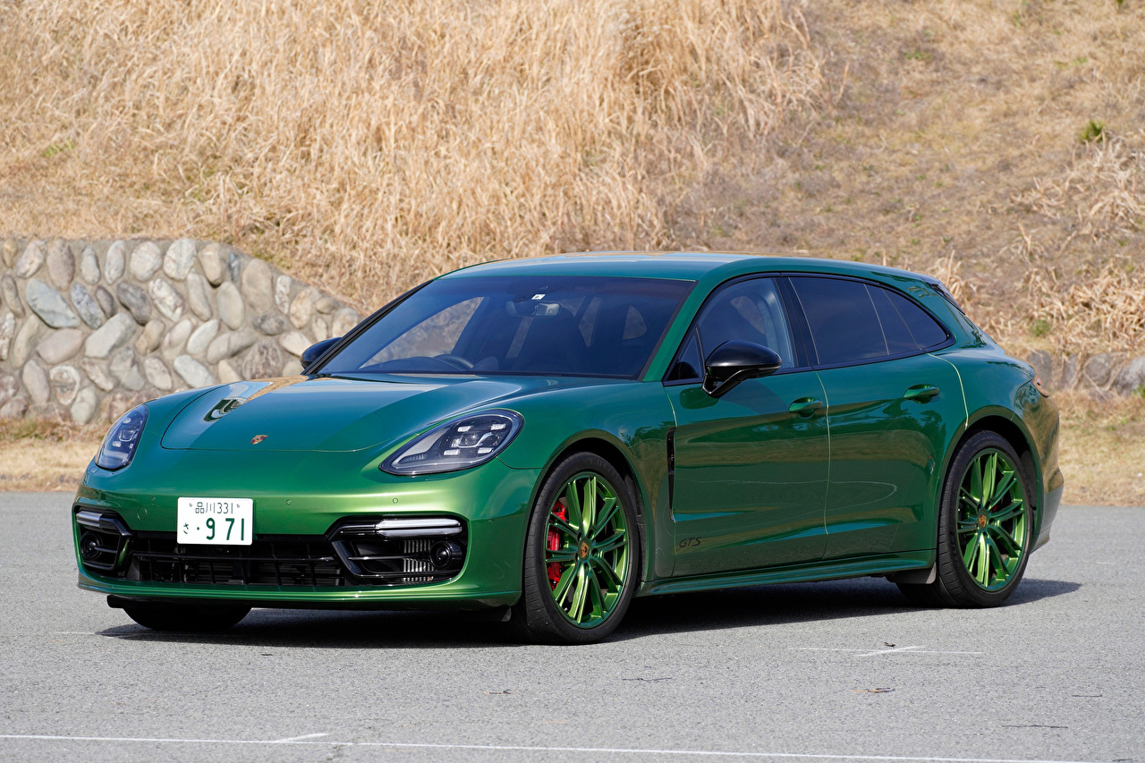 Bilder von Porsche 2018-20 Panamera GTS Sport Turismo Grün auto Autos automobil