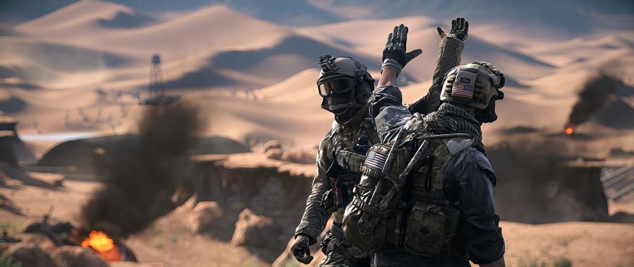Battlefield 4 Soldados Americano Dos videojuego, soldado, 2, US, americanos, americana Juegos 3D Gráficos