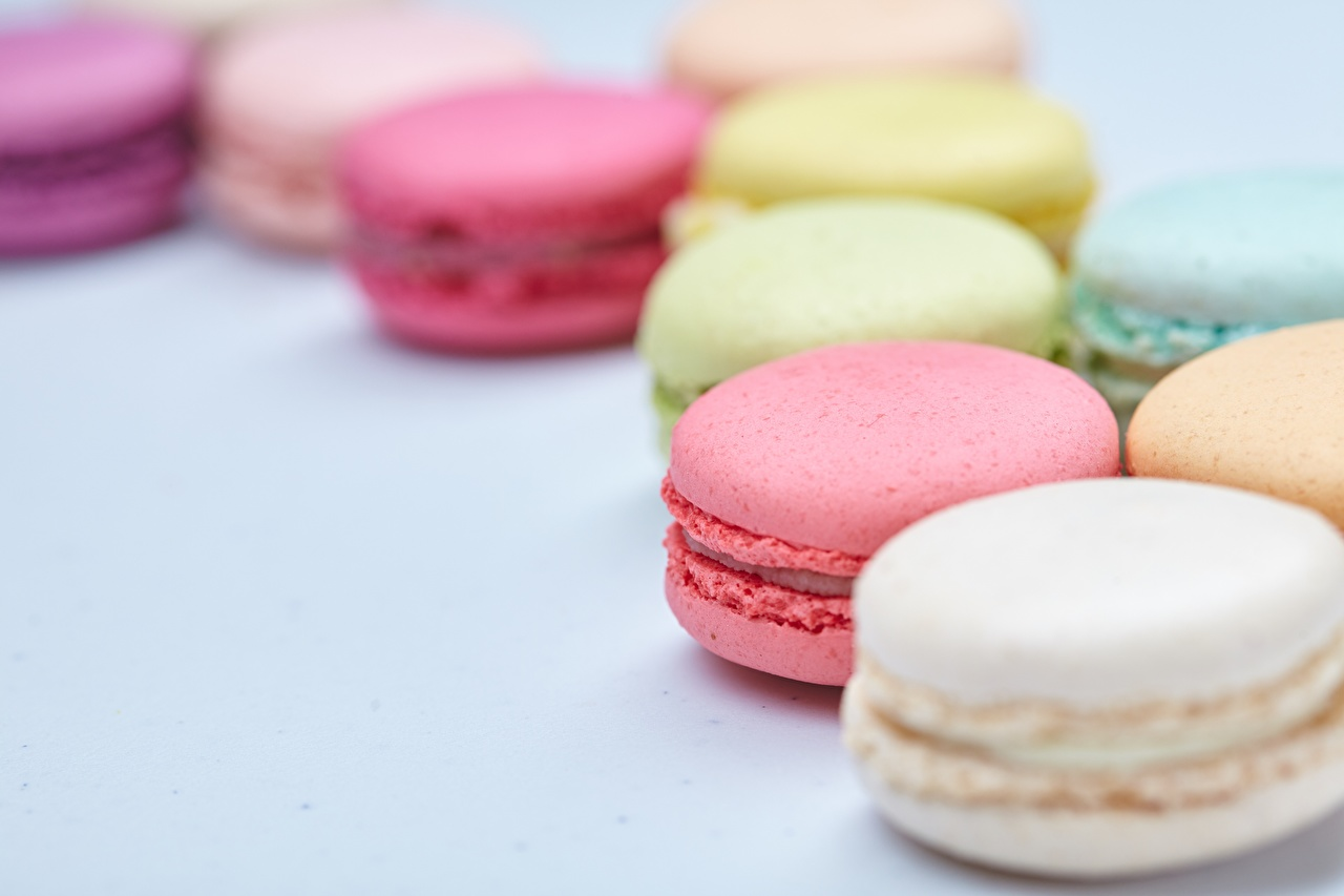 Images french macarons Bokeh Food Closeup Macaron blurred background