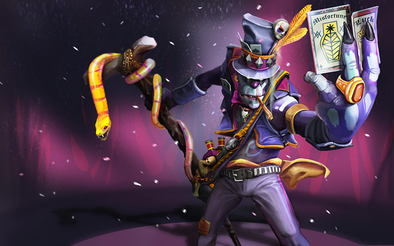 Pictures DOTA 2 Witch Doctor Skulls sorcery Monsters Fantasy Games