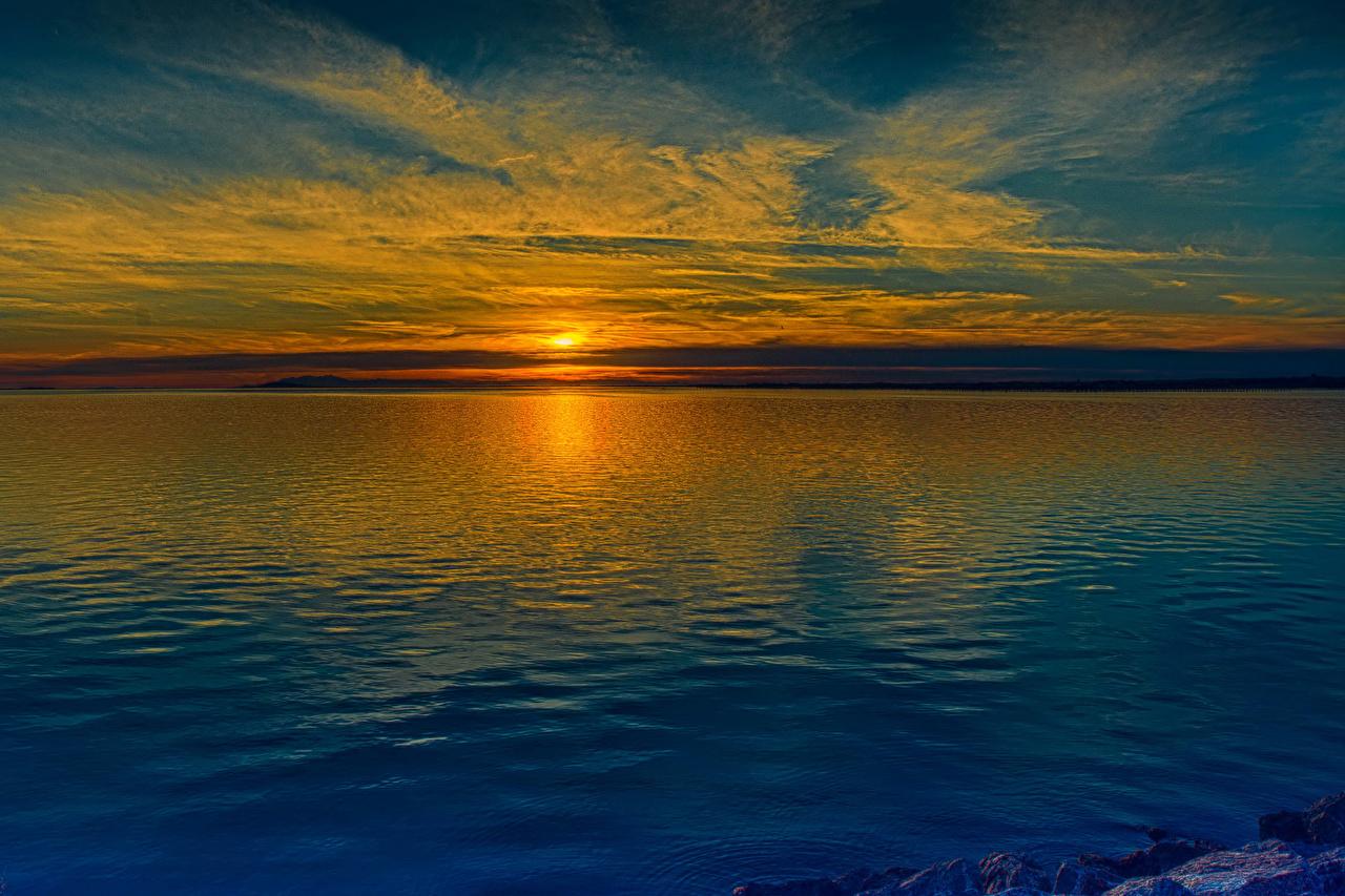 Rios Amanheceres e entardeceres Pôr do sol, ocaso, rio Naturaleza
