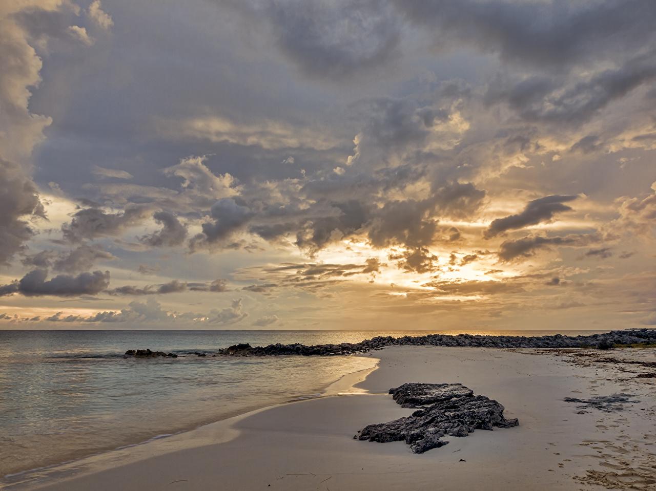 Tapeta Plaże Morze przyroda Niebo Wybrzeże Chmury plaża Natura