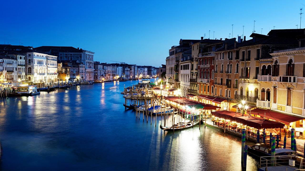 Itália Casa Barcos Grand canal Veneza Canal Revérbero Edifício Cidades