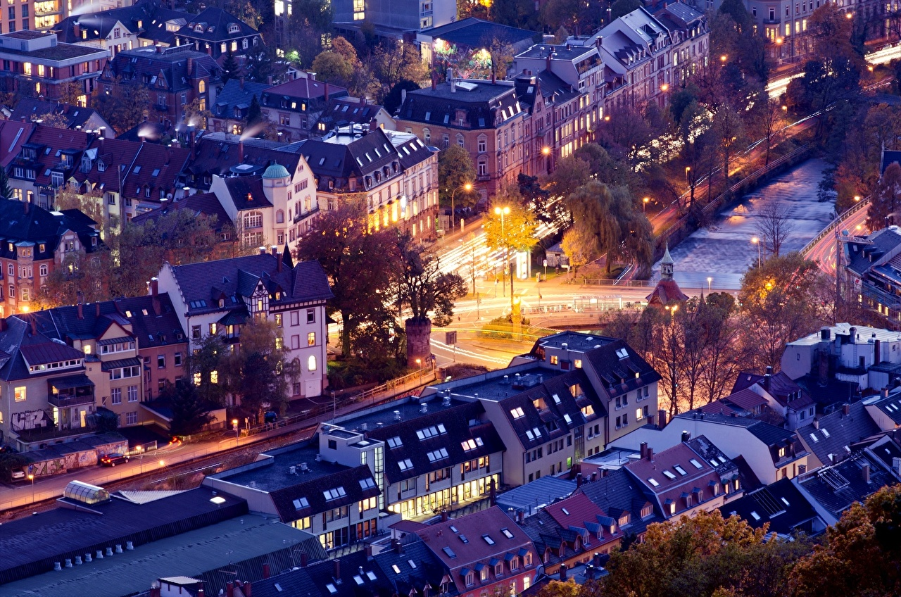 Desktop Wallpapers Germany From above Cities Building Houses