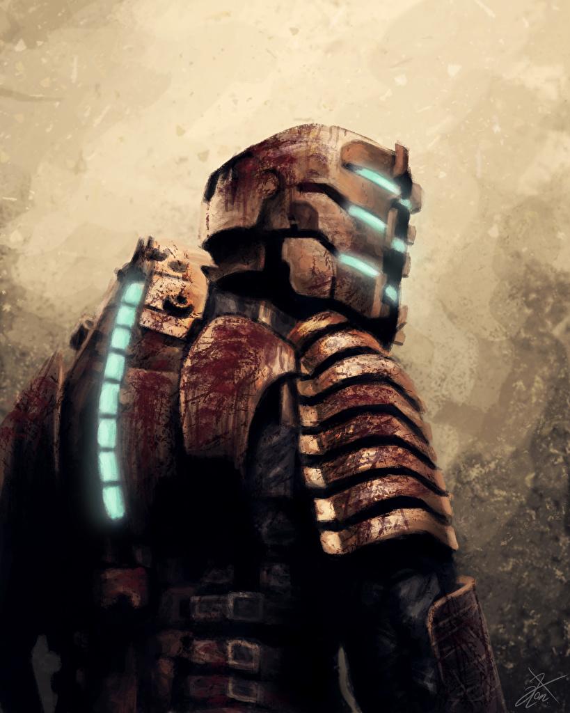 Desktop Wallpapers Dead Space Armor Helmet Isaac Clarke Fantasy