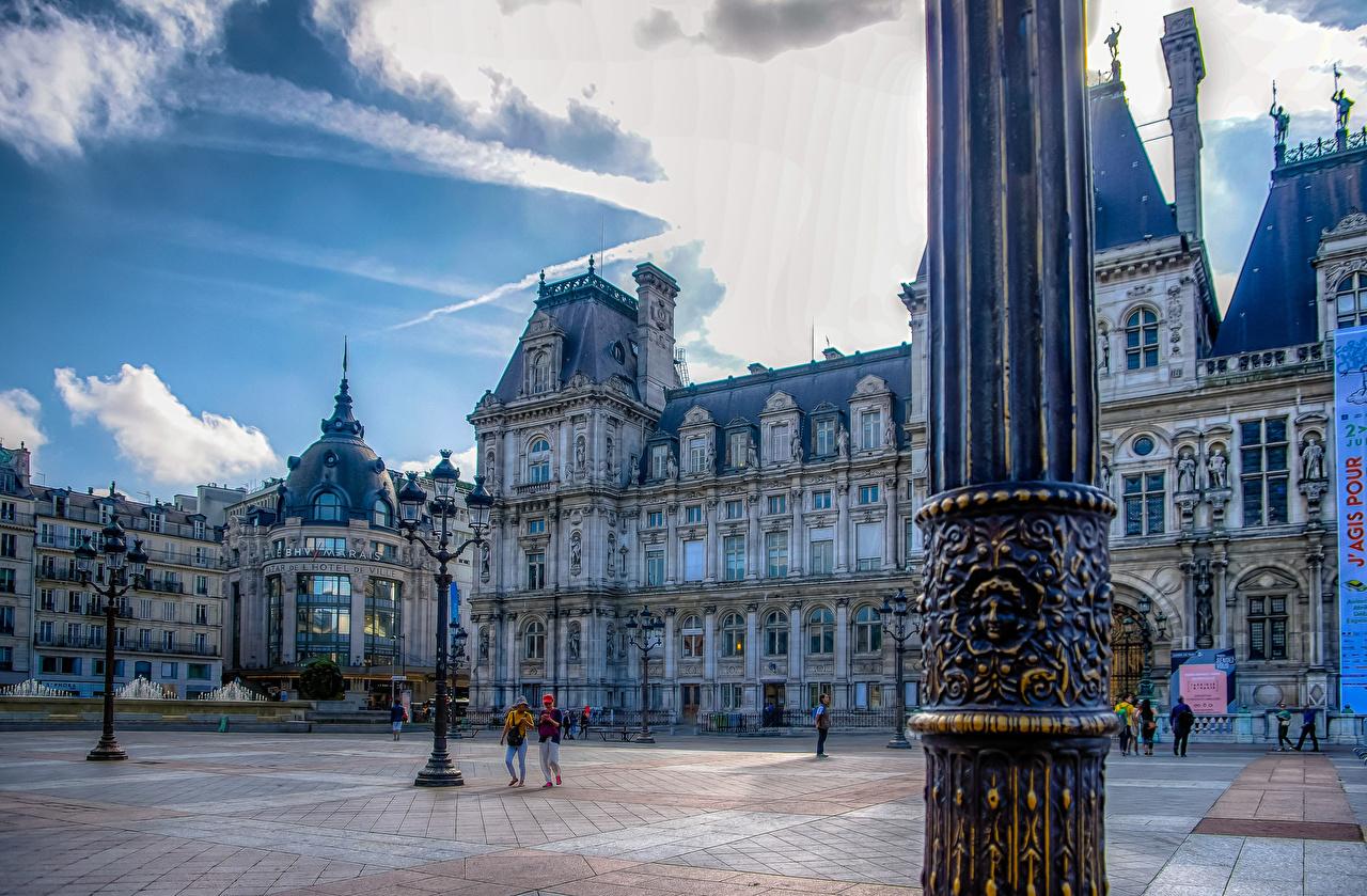 Foto Parigi Francia Piazza della città Lampioni Città edificio La casa