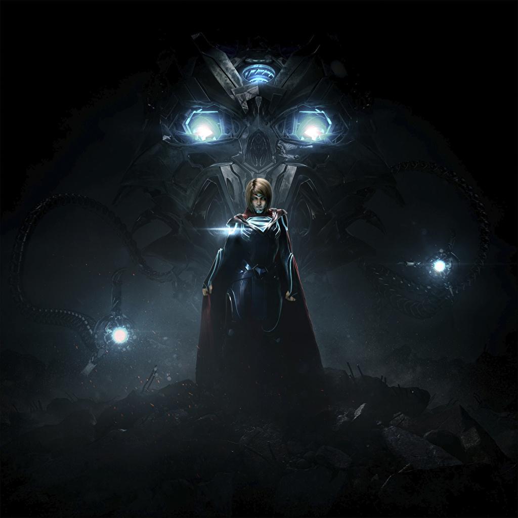 Bilde Injustice 2 Superhelter Supergirl helten Unge kvinner Dataspill Natt ung kvinne videospill