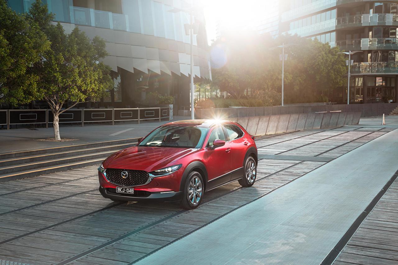 Picture Mazda 2019-20 CX-30 Red automobile Cars auto