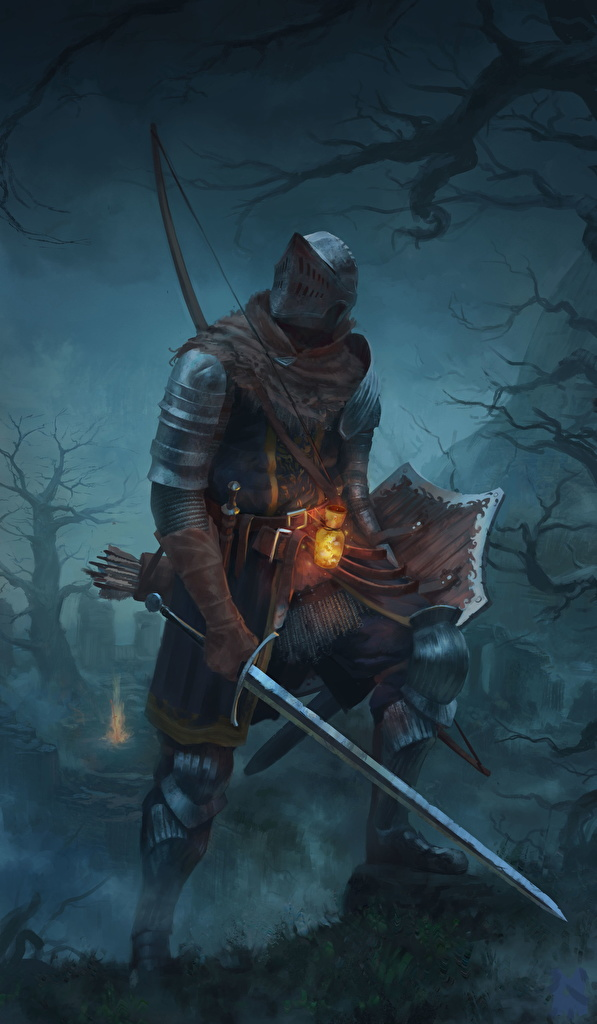 Wallpaper Dark Souls Armor Knight Swords Shield Fantasy  for Mobile phone armour