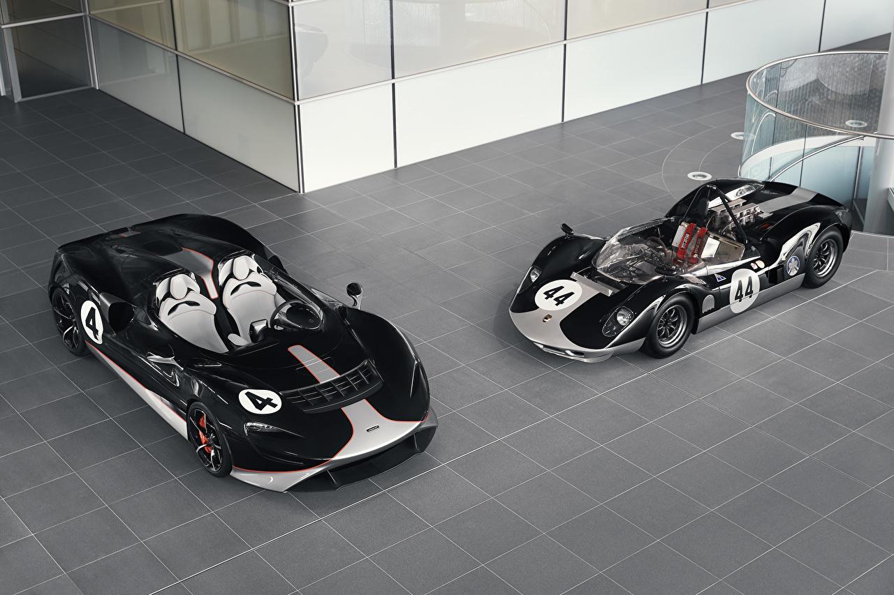 Image Tuning McLaren 2020-21 M1, MSO Elva M1A Theme Roadster Two Black Cars Metallic 2 auto automobile