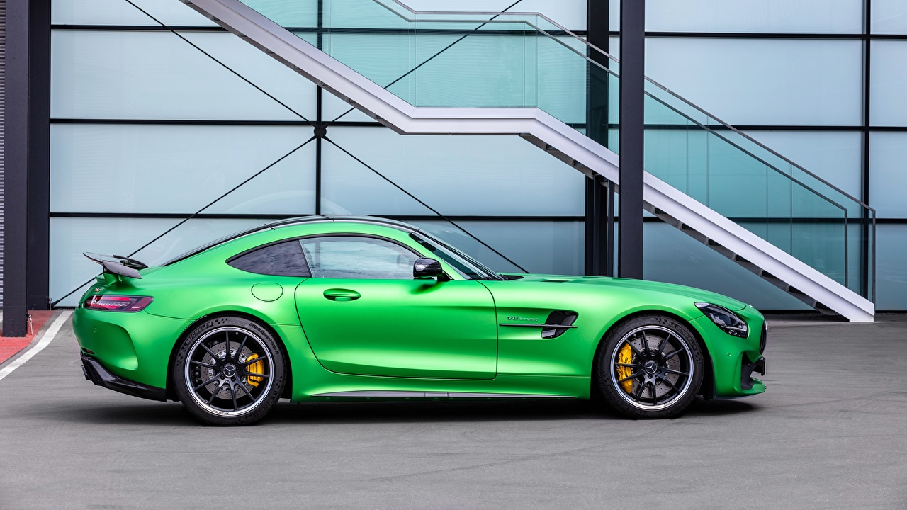 Image Mercedes-Benz AMG GT Green Side Cars Metallic auto automobile