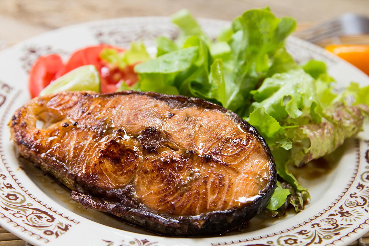 Wallpaper Fish - Food Food Plate Salads Closeup