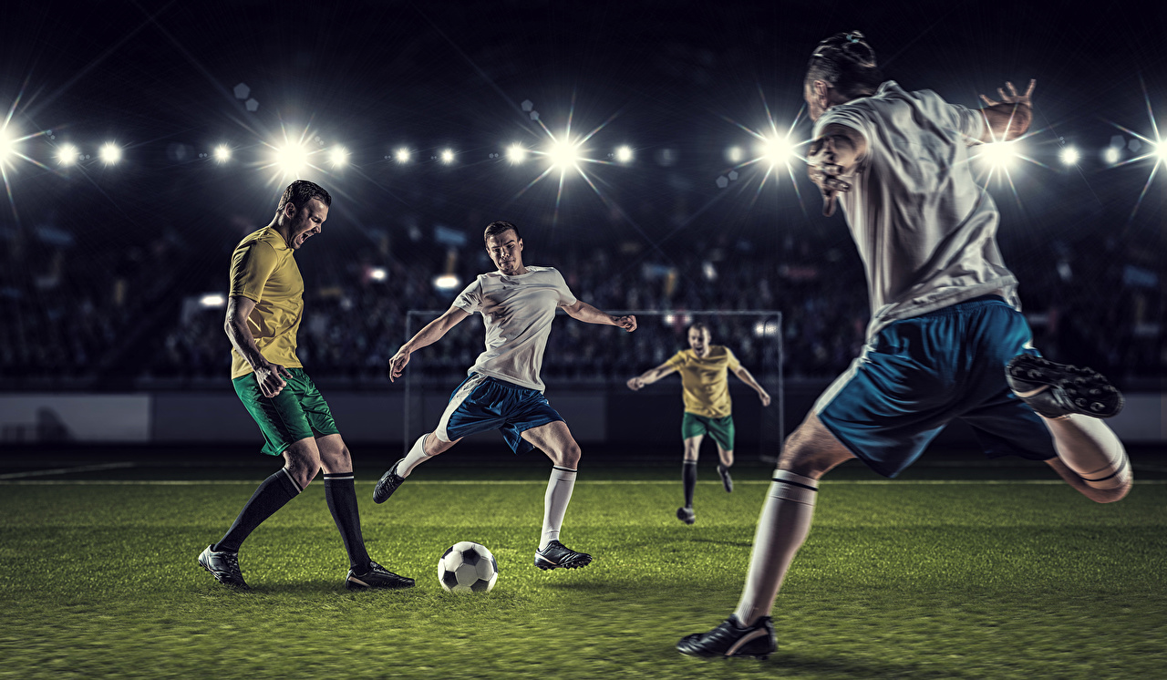 Image Men Sport Footbal Legs Ball Man sports athletic