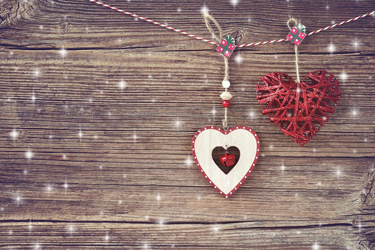 Sfondi del desktop Festa di san Valentino Cuore Modello biglietto di auguri Tavole