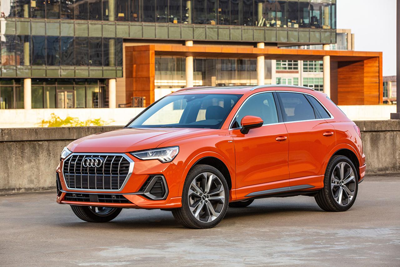 Photo Audi 2019 Q3 2.0 TFSI quattro S line Orange Metallic automobile Cars auto