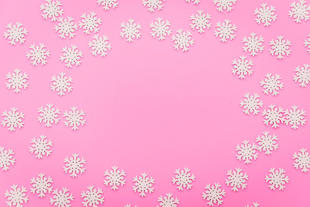 Wallpapers Snowflakes Template greeting card Colored background