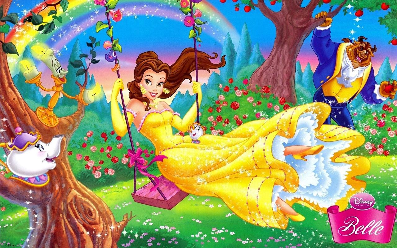 壁紙 ディズニー 美女と野獣 ブランコ 漫画 ダウンロード 写真