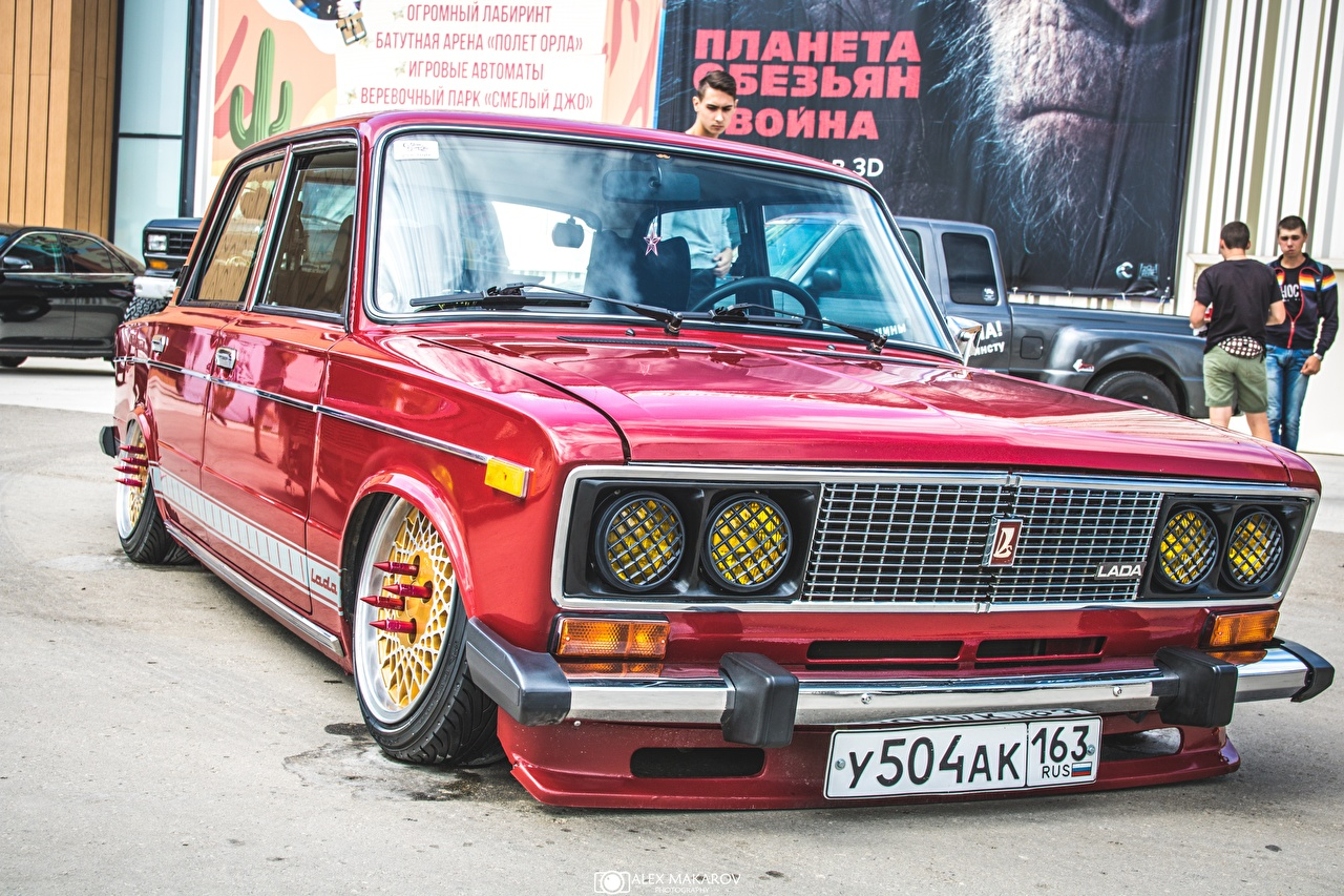 Foto Lada Tuning Russische Autos 2106 Rot Autos Fahrzeugtuning