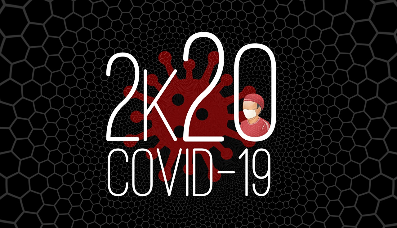 Desktop Wallpapers English Black background text Covid 19 2020 Coronavirus lettering Word - Lettering