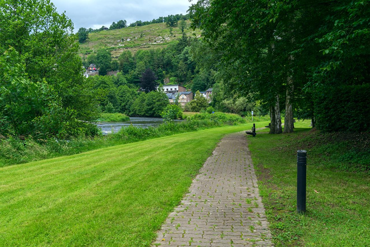 Images Belgium Laroche Luxemburg Nature Grass Pavement