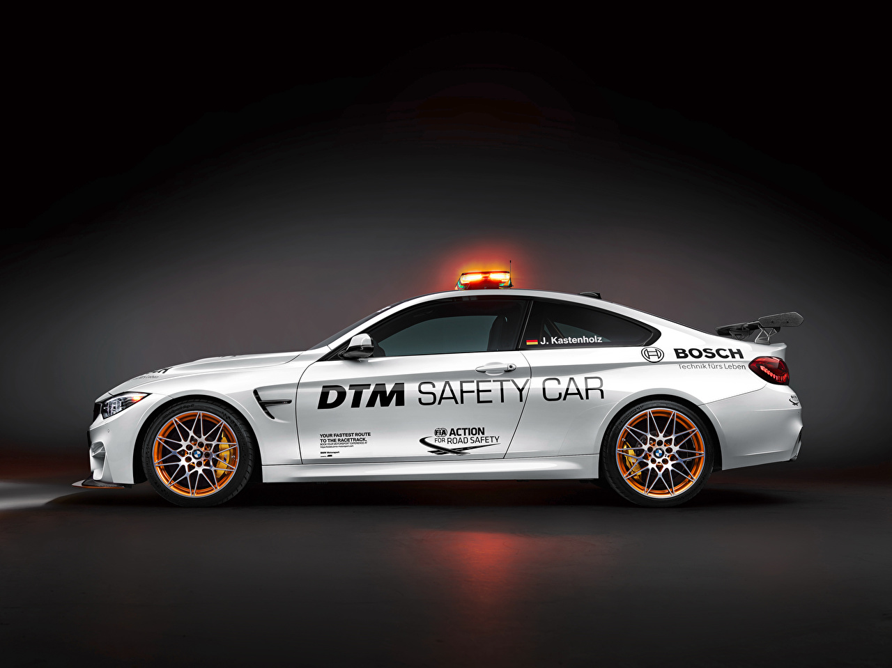 Desktop Wallpapers BMW DTM GTS F82 Safety Car White Side Cars auto automobile