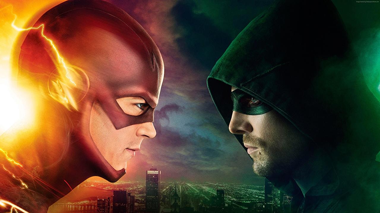 Bakgrunnsbilder The Flash 2014 Superhelter The Flash superhelt Arrow, Stephen Amell, 4 season To 2 Fantasy Film Med hette