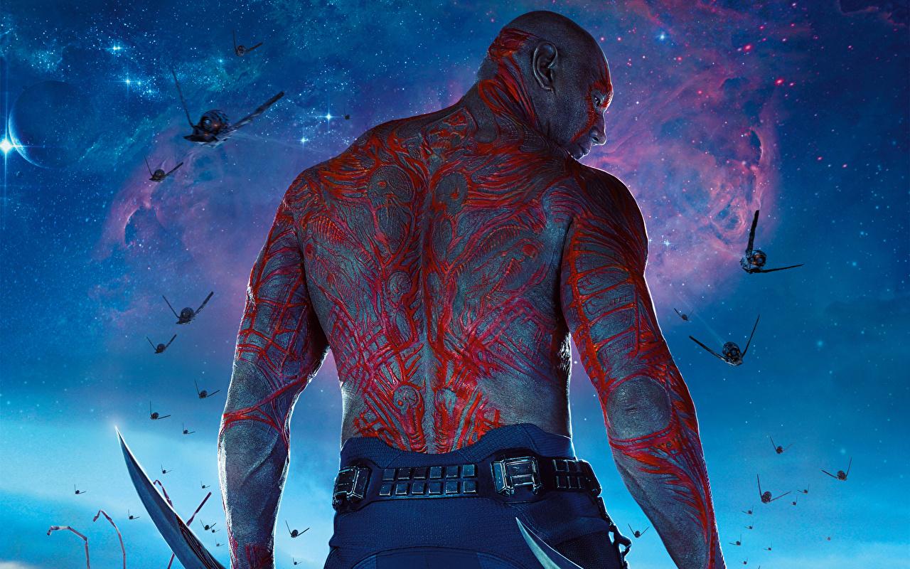 壁紙 ガーディアンズ オブ ギャラクシー 男性 Drax The Destroyer 背中 映画 ファンタジー ダウンロード 写真