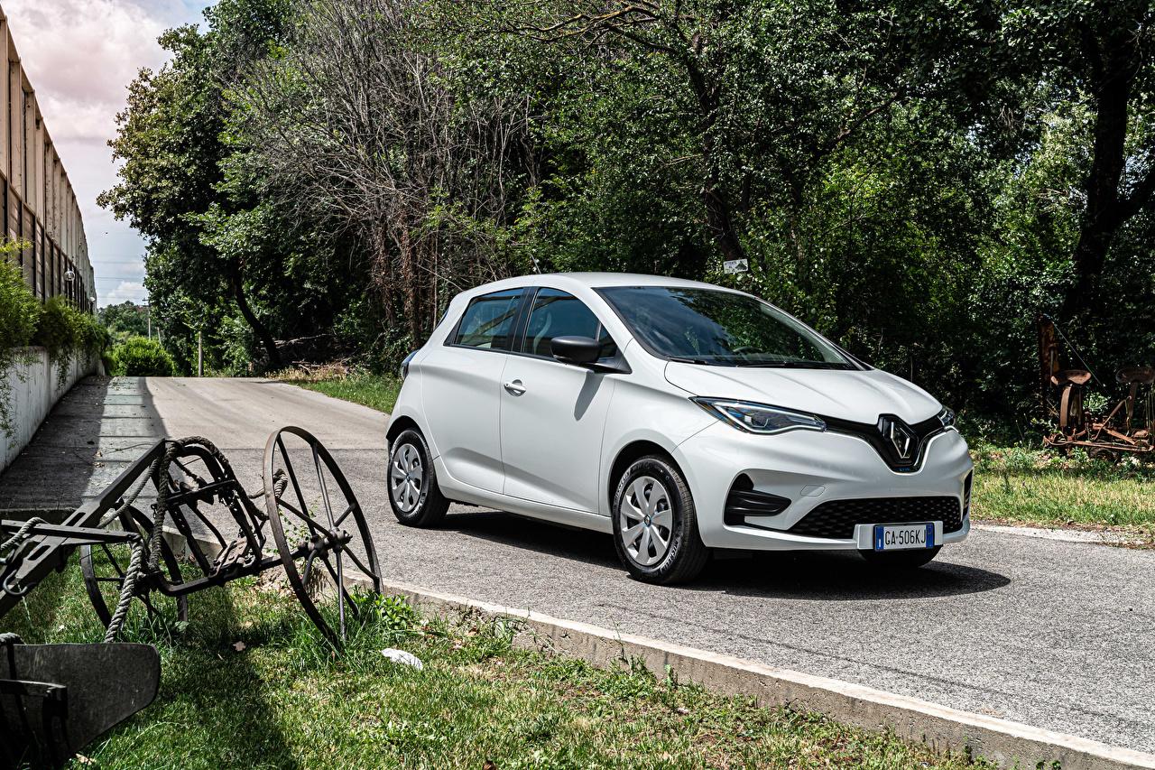 Picture Renault 2020 Zoe Van White Cars auto automobile