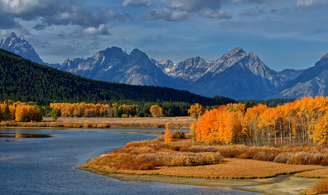 foto de Fonds d'ecran Automne USA Parc Montagnes Forêts Lac Photographie ...