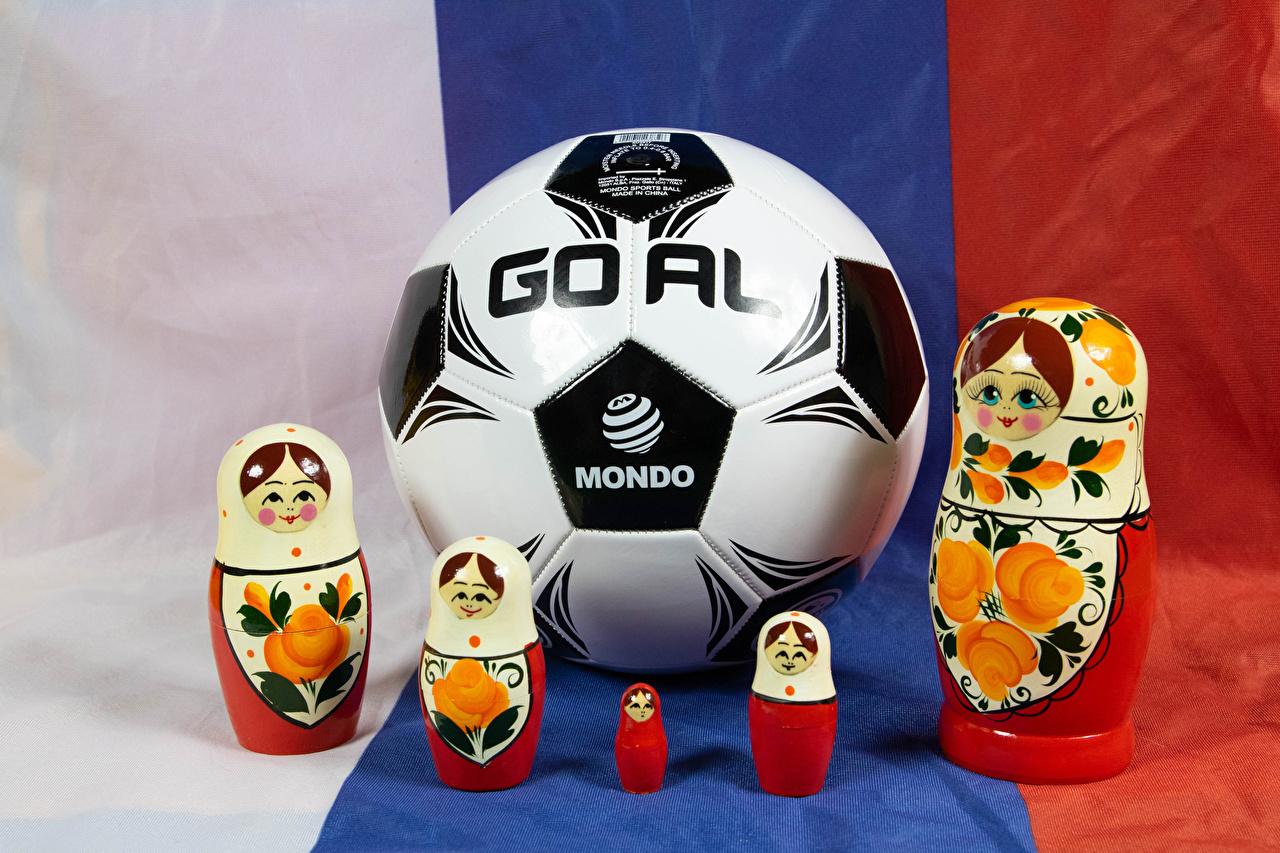 Bilder von Fußball Matrjoschka sportliches Ball Sport