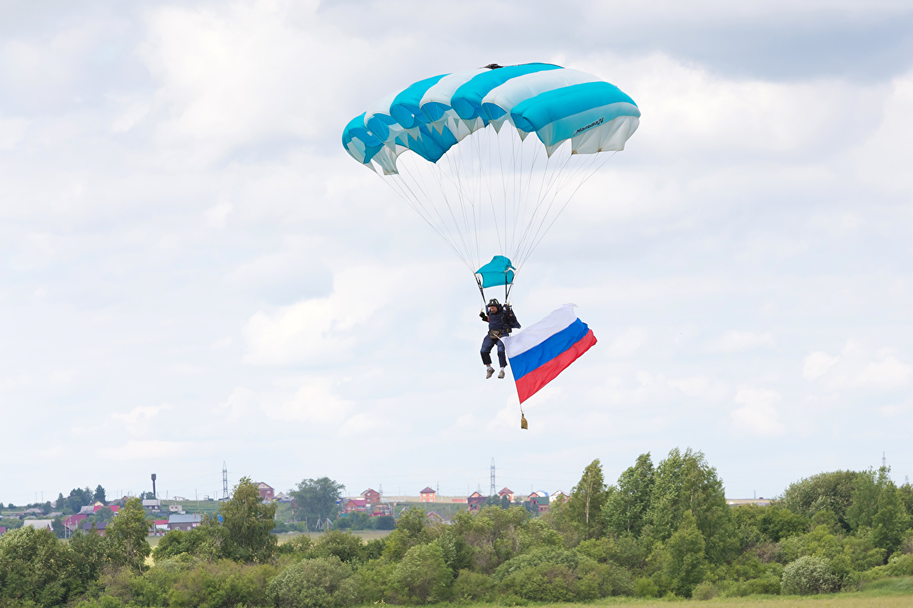 Images Russian athletic Parachuting skydiving Sky Flag Sport sports